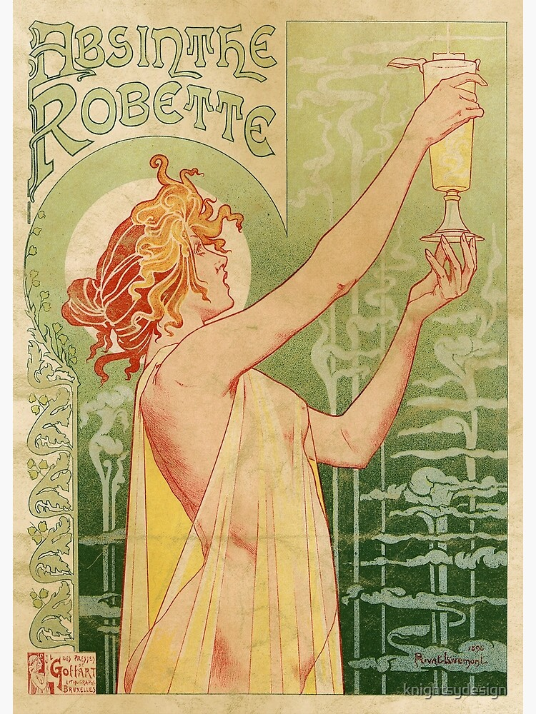 Absinthe Robette Vintage Alcohol Art Advert  by knightsydesign