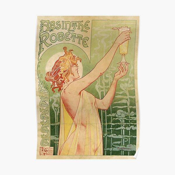 Absinthe Robette Vintage Alcohol Art Advert  Poster