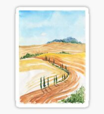 Summer landscape Sticker