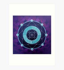 Mandala Dot Painting BORN AGAIN by Dutch Artist Tessa Smits Art Print