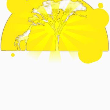 Sunset Giraffe by FluidBotDesigns