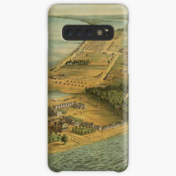 Vintage Pictorial Map of Point Lookout MD (1864) Samsung Galaxy Snap Case