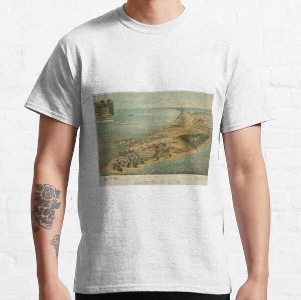 Vintage Pictorial Map of Point Lookout MD (1864) Classic T-Shirt