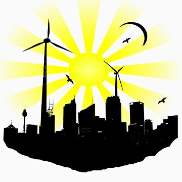 Windmill City by FluidBotDesigns