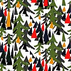 Snow Forest by Lorloves By Lorin Carnwath by LorlovesDesign