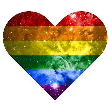 Rainbow Heart by tobiejade