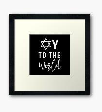 Oy To The World Star of David Hanukkah Framed Print