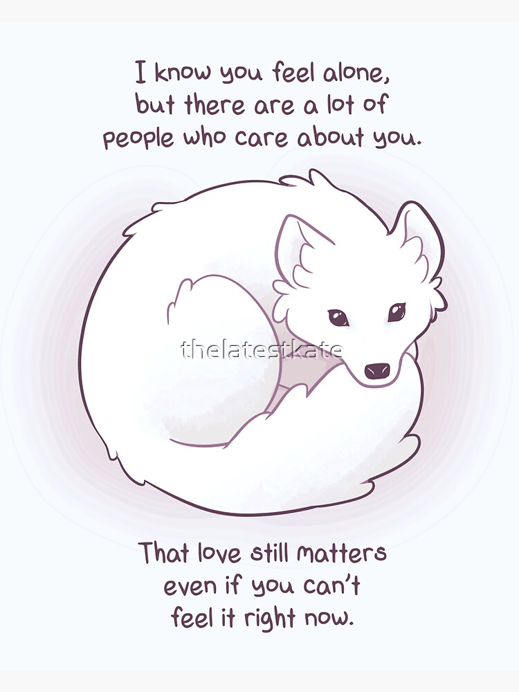"""""""I Know You Feel Alone"""" Arctic Fox by thelatestkate"""