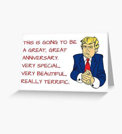 Trump tarjeta de aniversario / etiqueta, tarjetas de felicitación meme Tarjeta de felicitación