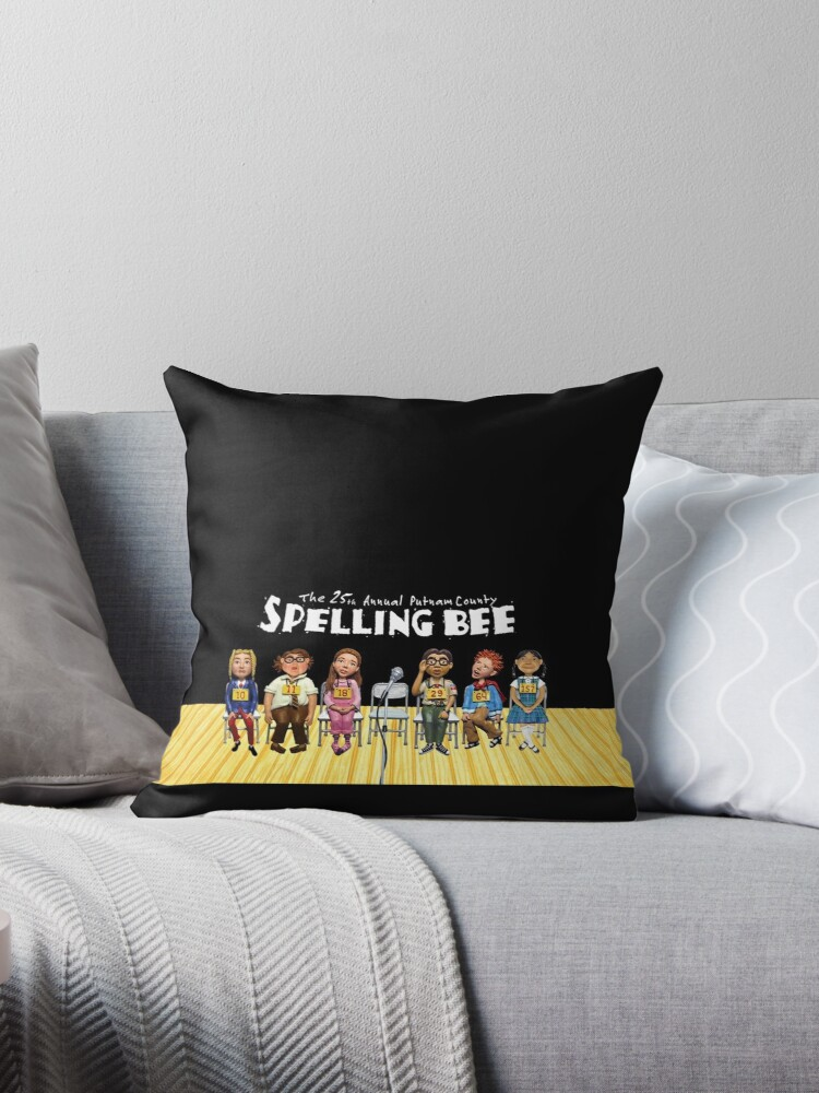 The 25th Annual Putnam County Spelling Bee Throw Pillow By Allisonpkk Redbubble
