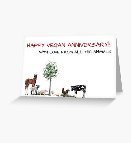 Regalo de aniversario vegano Tarjeta de felicitación