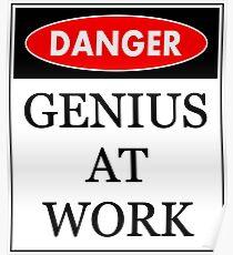 Danger - Genius at work Poster