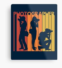 Vintage Retro 1980s Photographer Gift Metal Print