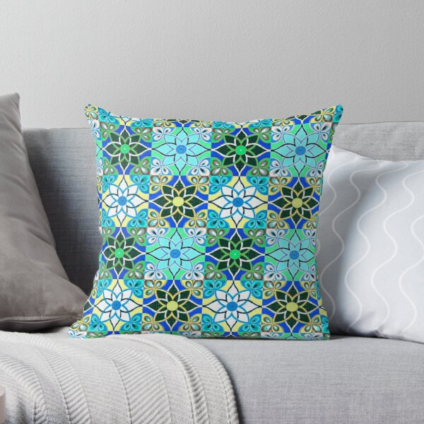indo-persian 325 by Hypersphere Throw Pillow