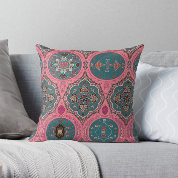 indo-persian 328 by Hypersphere Throw Pillow