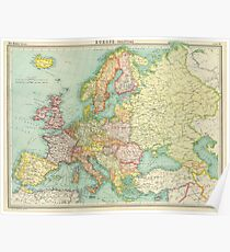 Map Of Europe 1922.Vintage Europe Map Posters Redbubble