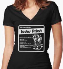 Judas Priest - Deeside Leisure Centre Women's Fitted V-Neck T-Shirt