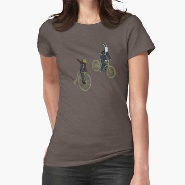 Cycling Rabite and Croco Fitted T-Shirt