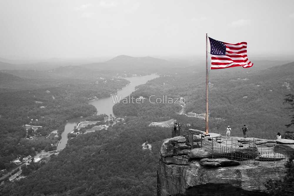 Chimney Rock Flag by Walter Collazo