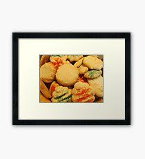 Christmas cookies with sugar sprinkles Framed Print