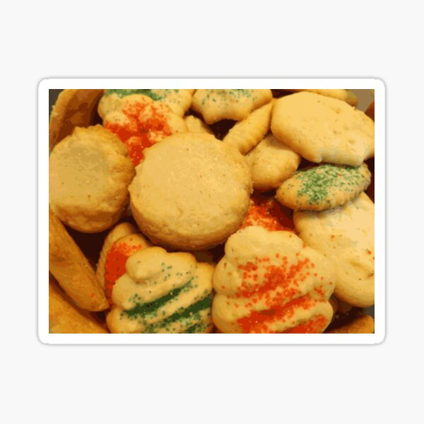 Christmas cookies with sugar sprinkles Sticker