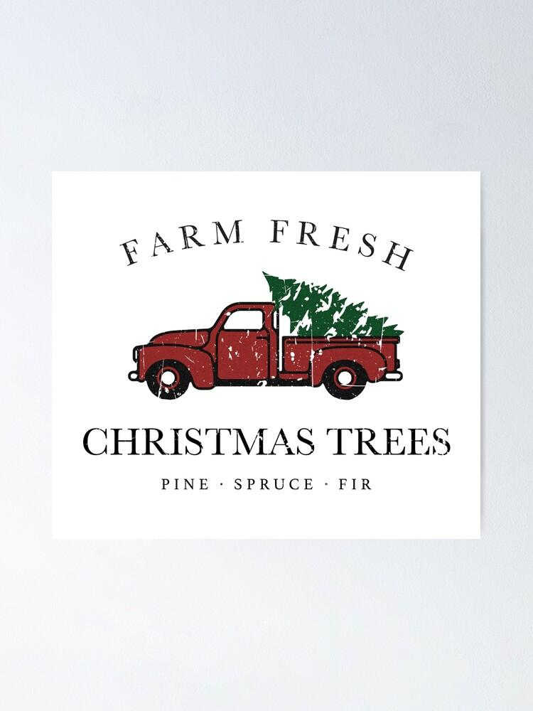 Alternate view of Christmas Tree Farm Vintage Truck Poster