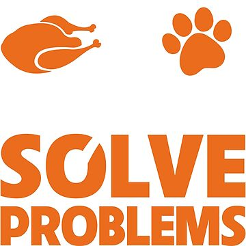 Funny Thanksgiving Turkey and my Cat Solve Problems by Adik