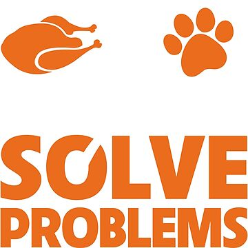 Funny Thanksgiving Turkey and my Dog Solve Problems by Adik