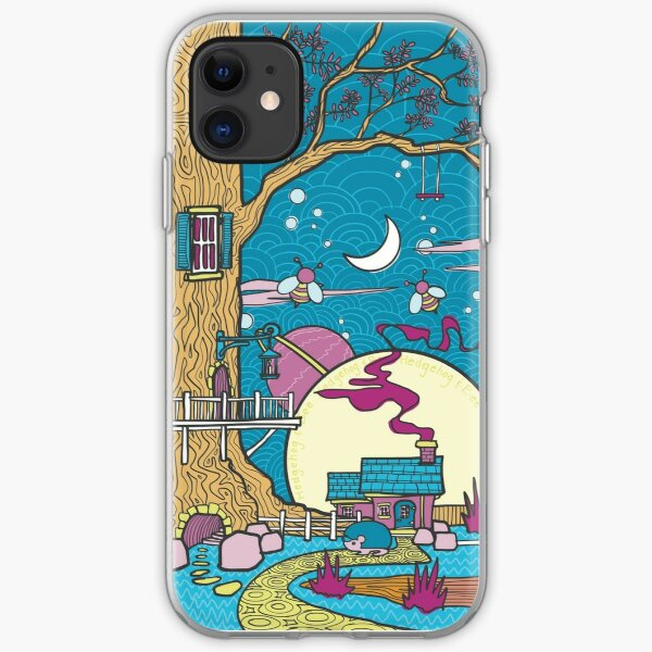 Psychedelic Cottage in the Forest iPhone Soft Case