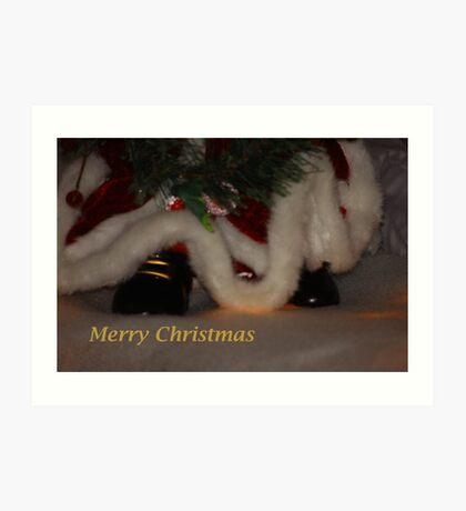 Santa's Shoes Art Print