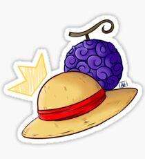 Luffy Hat Sticker Sticker