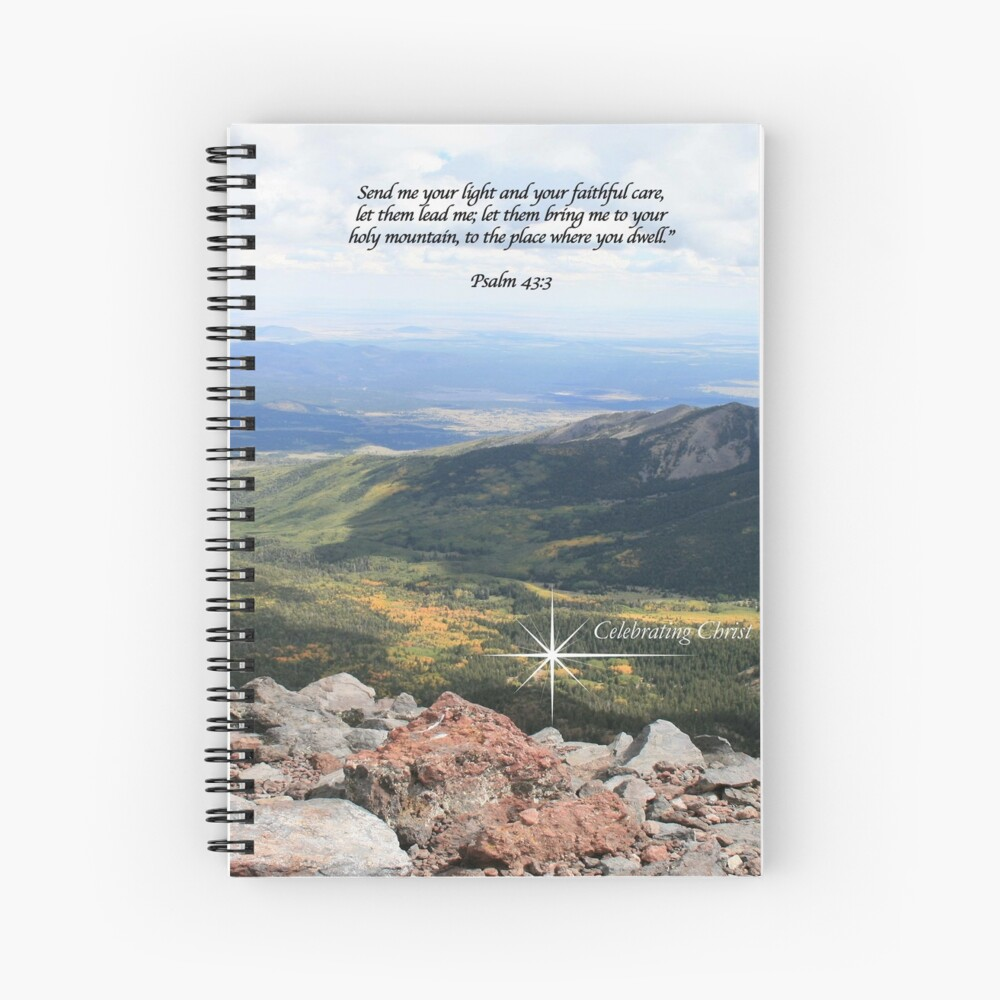 Summit Story Image with Psalm - From ccnow.info Spiral Notebook