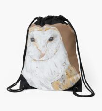 Barn Owl Drawstring Bag