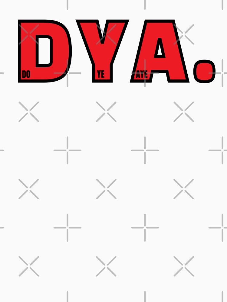 Do Ye Aye? Bold Red (Design Day 311) by TNTs