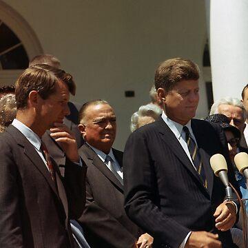 John and Robert Kennedy with J. Edgar Hoover - 1963 by warishellstore