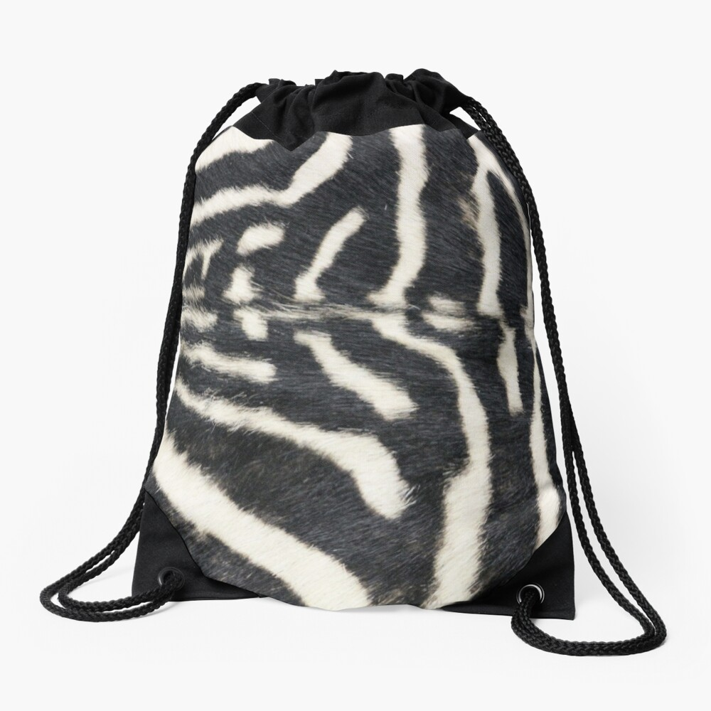 Zebra animal print Drawstring Bag