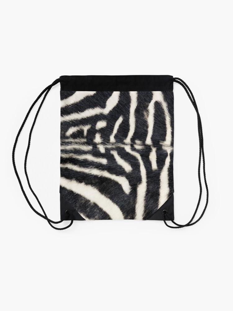 Alternate view of Zebra animal print Drawstring Bag