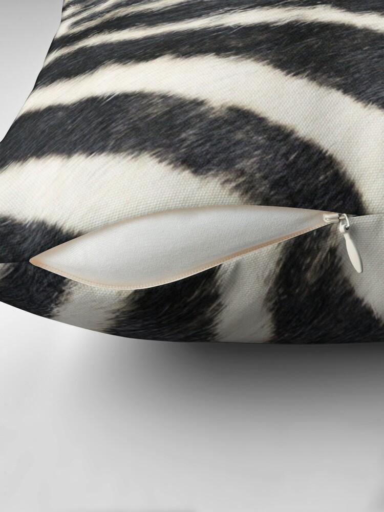 Alternate view of Zebra animal print Throw Pillow
