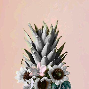 Flowered Splash Pineapple   by fonzyhappydays