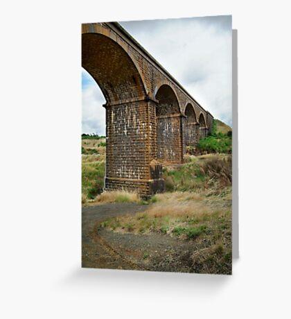 Railway Bridge, Malmsbury Victoria Greeting Card