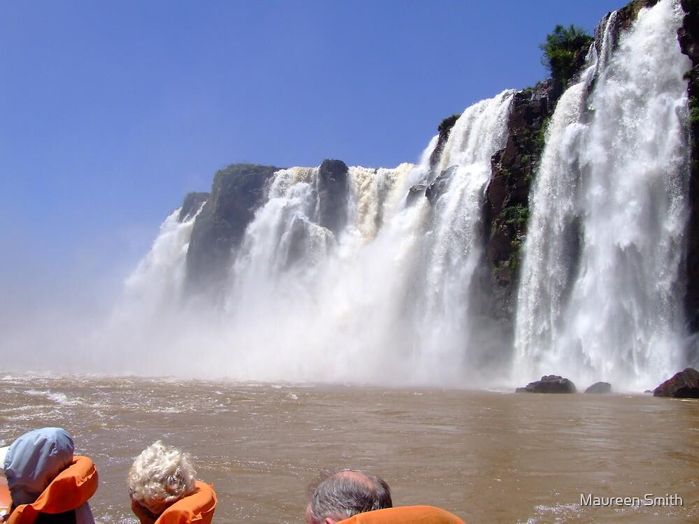 What a Thrill....Iguassu Falls, South America by Maureen Smith