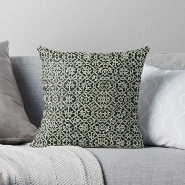 Byzantine 1 by Hypersphere Throw Pillow