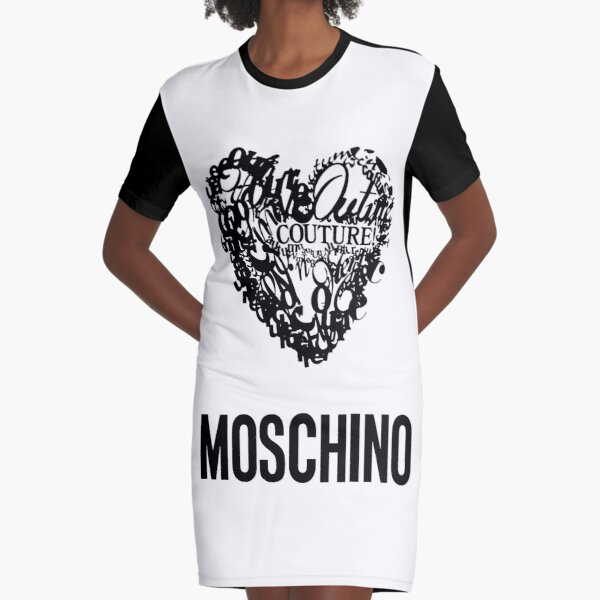 Moschino Couture Collage Graphic T-Shirt Dress