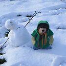 Deano Bear snowman by Dean Harkness