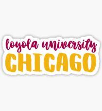 Loyola University Chicago 2 Sticker
