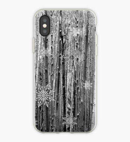 Aspens in the Snow iPhone Case