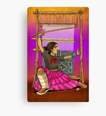 Lady Loom Slayer Canvas Print