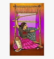 Lady Loom Slayer Photographic Print
