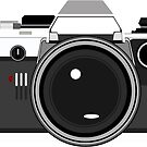 Graphic Vector Old Olympus Camera  by loulabella