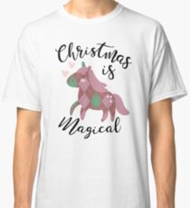 Christmas is Magical Argyle Unicorn Classic T-Shirt